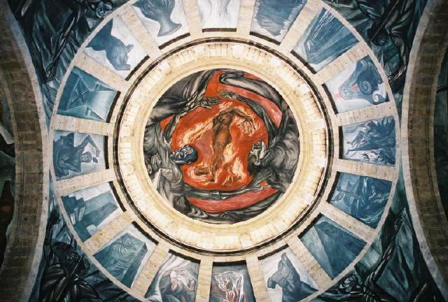 Algunos de los cuadros mencionados en for El mural jalisco